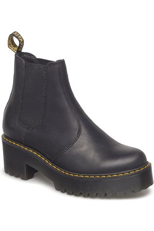 Dr. Martens Rometty Black Burnished Wyoming Shoes Chelsea Boots