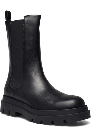 Apair New Square Chuncky Elastic Shoes Chelsea Boots