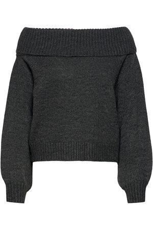 Soft Rebels Srlouisa Off-Shoulder Knit Neulepaita Musta