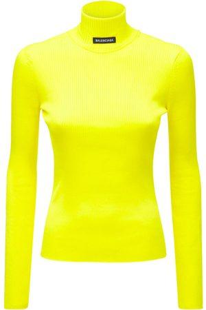 Balenciaga Ribbed Tech Turtleneck Sweater