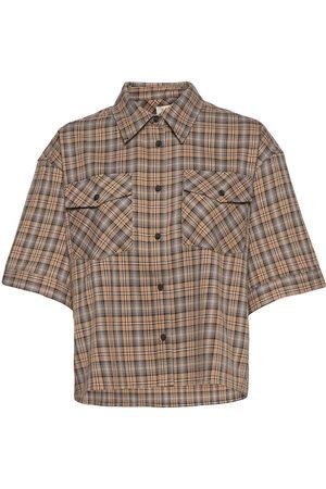 Norr Davey Shirt Lyhythihainen Paita Ruskea