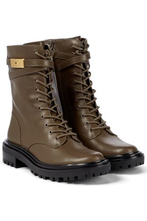 Tory Burch T Hardware leather combat boots