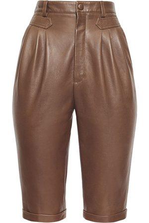 Saint Laurent Naiset Bermuda - Leather Bermuda Shorts