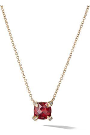 David Yurman 18kt yellow diamond Chatelaine pendant necklace
