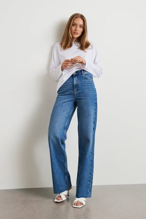 Gina Tricot Naiset Leveälahkeiset - Idun straight jeans