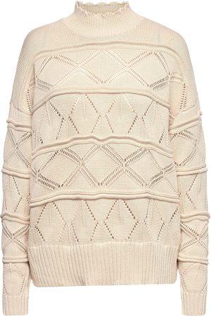 Coster Copenhagen Pointelle Sweater In Seawool Neulepaita Kermanvärinen