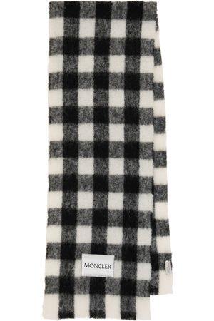 Moncler Checked logo scarf