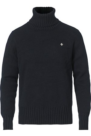 Morris Henley Heavy Cotton Roll Neck Old Blue