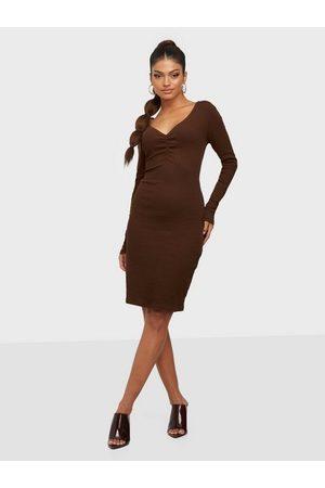 VILA Vifelia L/S Jersey Slim Rib Dress/K
