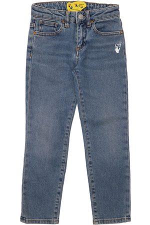 OFF-WHITE KIDS Tytöt Farkut - Stretch Cotton Jeans