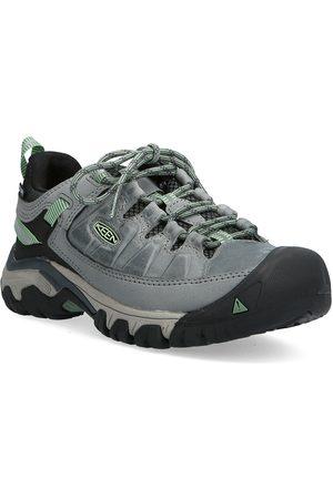 Keen Naiset Ulkoilukengät - Ke Targhee Iii Wp W Bleacher-Duck Green Shoes Sport Shoes Outdoor/hiking Shoes Harmaa