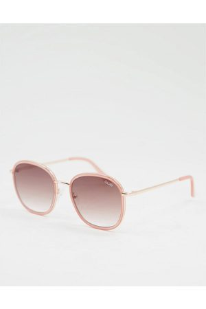 Quay Australia Quay Jezabell Inlay womens round sunglasses in brown-Pink