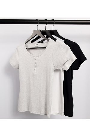 Cotton:On Maternity 3 pack henley short sleeve top in multi