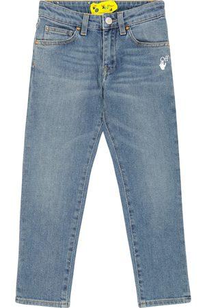 Off-White Kids Miehet Slim Fit - Diagonal slim-fit jeans