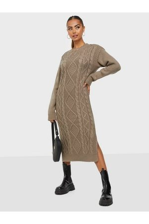 NLY Naiset Neulemekot - Magnificent Cable Knit Dress