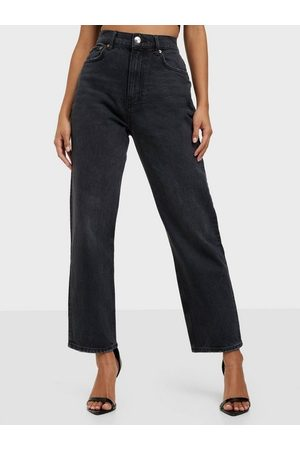Gina Tricot Unni Cropped Jeans Washed Black
