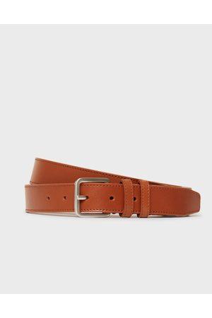 Selected Homme Miehet Vyöt - Slhnate Leather Belt B Noos Vyöt Cognac