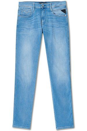 Replay Miehet Skinny - Anbass Hyperflex Re-Used Jeans Light Blue
