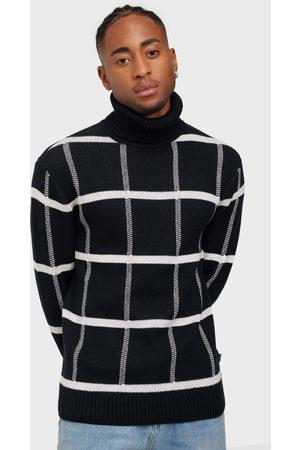 casual friday Miehet Poolopaidat - Klaes jaquard roll neck knit Neuleet & swetarit Antracit