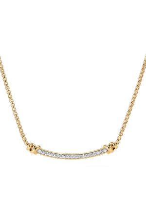 David Yurman Naiset Kaulakorut - 18kt yellow petite Helena diamond station necklace