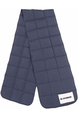 Jil Sander Logo-patch padded down scarf