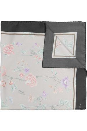 SHANGHAI TANG X Yuni Ahn silk floral-print foulard
