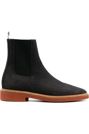 Thom Browne Suede Chelsea boots with signature stripe detailing