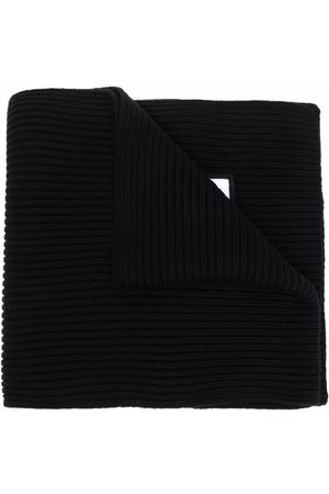 Dsquared2 Huivit - Ribbed-knit embroidered-logo scarf