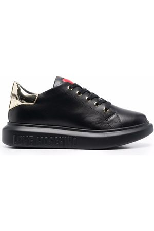 Love Moschino Naiset Tennarit - Heart-motif leather sneakers