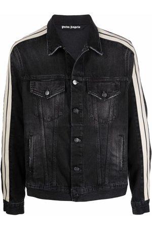 Palm Angels Miehet Farkkutakit - Side striped denim jacket