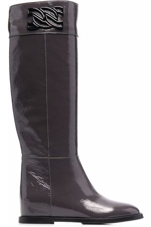 Casadei Naiset Ylipolvensaappaat - C-Chain knee-length leather boots
