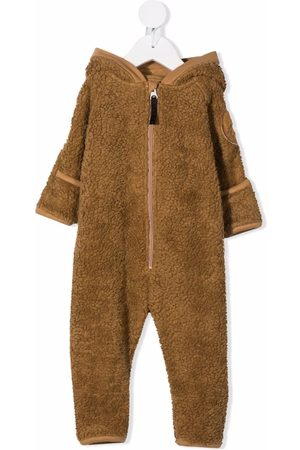 Molo Kids Vauvat Bodyt - Faux-shearling hooded babygrow