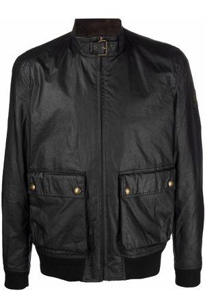 Belstaff Miehet Nahkatakit - Pouch-pocket biker jacket