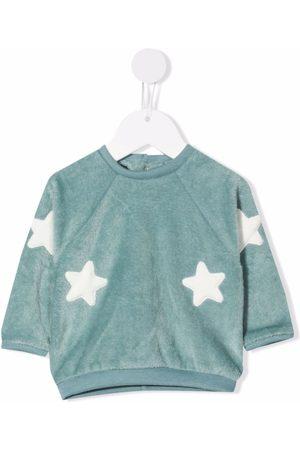 LA STUPENDERIA Collegepaidat - Star-embroidered sweatshirt