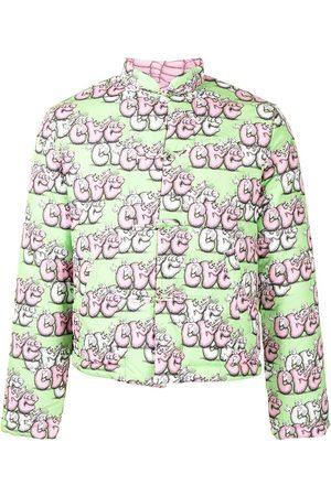 Comme Des Garçons Shirt Miehet Untuvatakit - Logo-print padded jacket