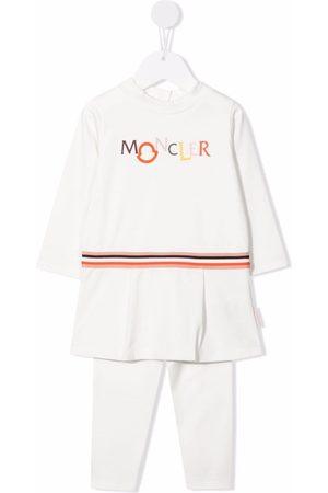 Moncler Enfant Setit - Stripe-print cotton tracksuit set