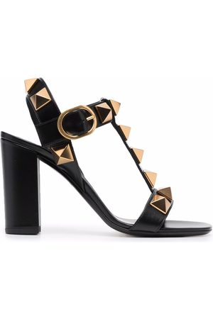 VALENTINO GARAVANI Roman Stud block-heel sandals