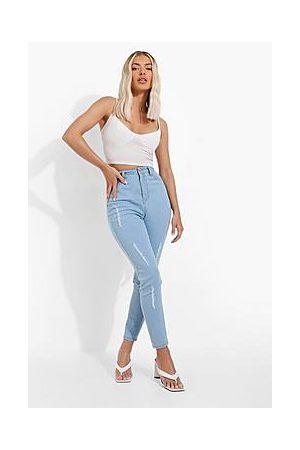 Boohoo High Rise Distressed Skinny Jean