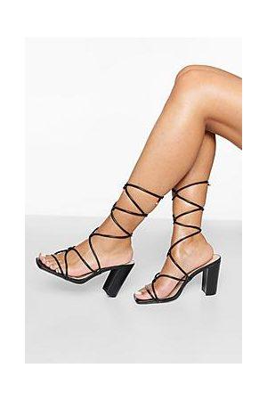 Boohoo Block Heel Strappy Sandal