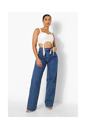 Boohoo Tall High Rise Boyfriend Jeans