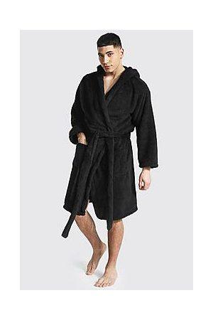 Boohoo Fleece Hooded Dressing Gown