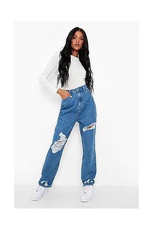 Boohoo Tall Distressed Mom Jeans