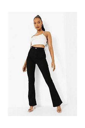 Boohoo High Waist Skinny Flared Jeans