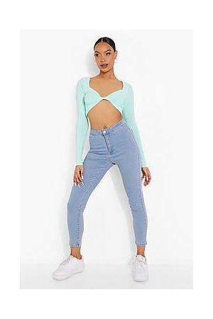 Boohoo High Rise Super Stretch Disco Jeans
