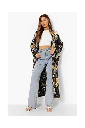 Boohoo Premium Printed Wrap Kimono