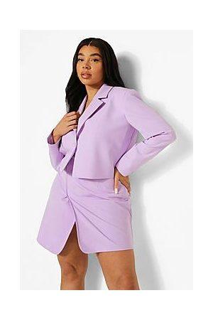 Boohoo Plus Premium Tailored Wrap Mini Skirt