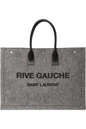 Saint Laurent Naiset Ostoskassit - Large Rive Gauche Leather Tote