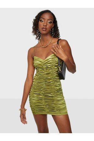NLY Ruched Satin Mini Dress