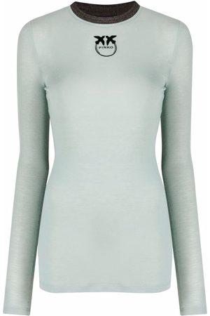 Pinko Naiset T-paidat - Logo-print long-sleeve T-shirt