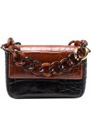 Staud Naiset Olkalaukut - Crocodile-effect leather bag